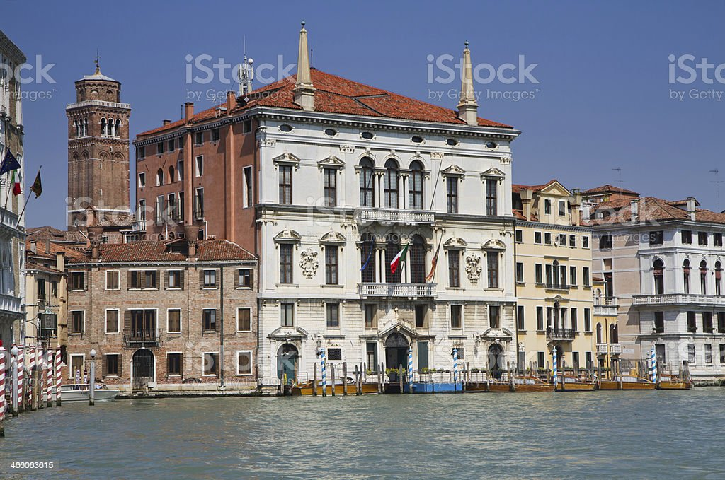 Palazzo Balbi at the Grand Canal stock photo