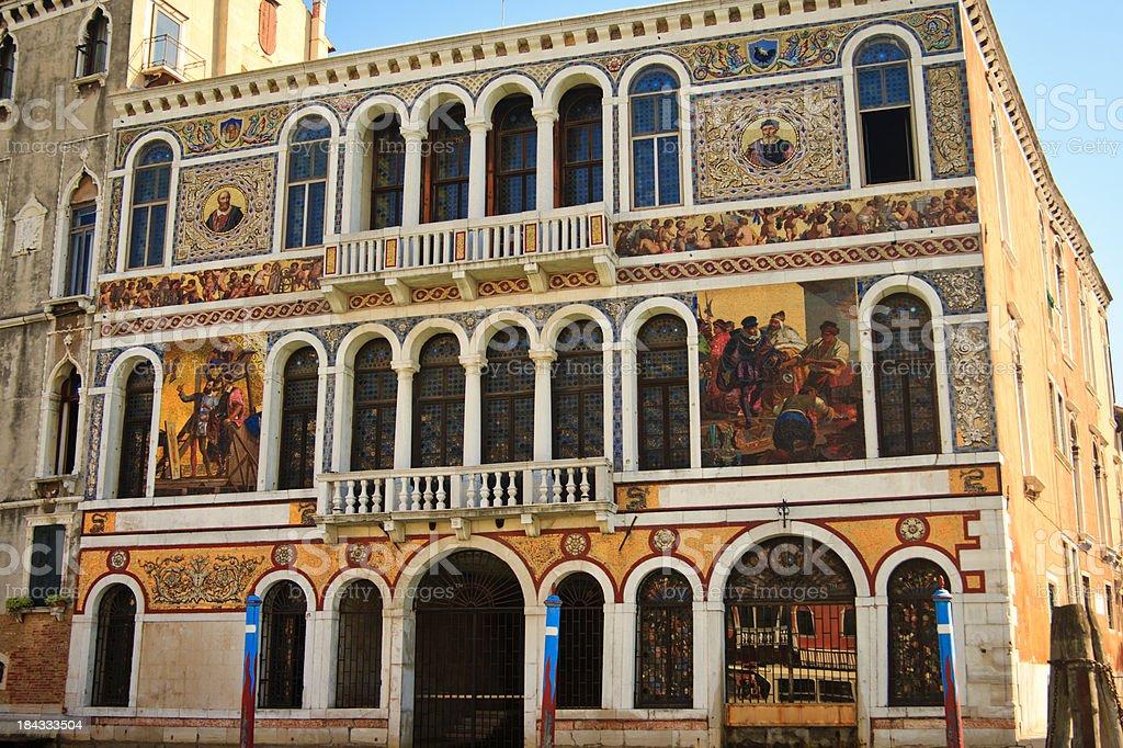 Palazzo Barbarigo, Grand Canal, Venice, Italy stock photo