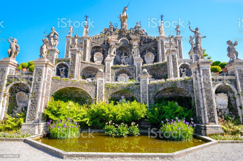 Palazzo Borromeo gardens - Lake Maggiore, Stresa - Italy stock photo