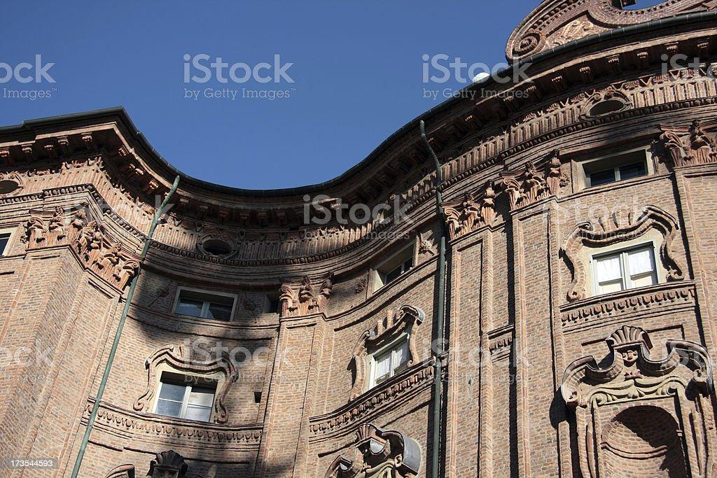 Palazzo Carignano royalty-free stock photo
