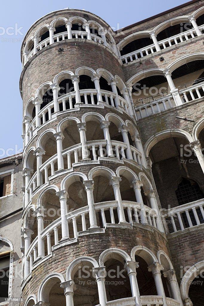 Palazzo Contarini del Bovolo, Venice, Italy old building spiral stock photo