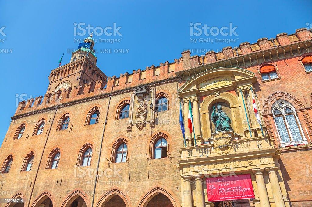 Palazzo d'Accursio Bologna stock photo
