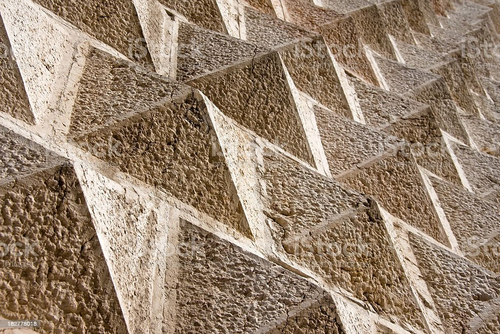 Palazzo dei Diamanti Ashlar Facade Abstract Detail, Ferrara in Italy stock photo