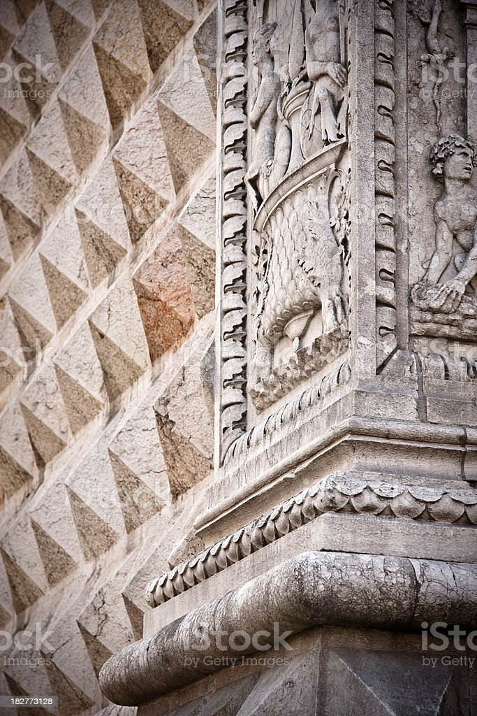 Palazzo dei Diamanti Detail, Italian Renaissance Architecture stock photo