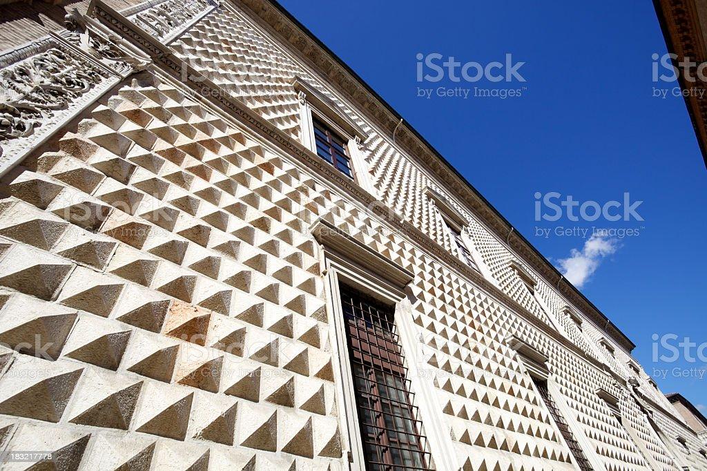 Palazzo dei Diamanti, Ferrara stock photo