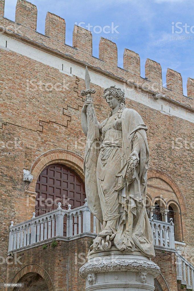 Palazzo dei Trecento in Treviso stock photo