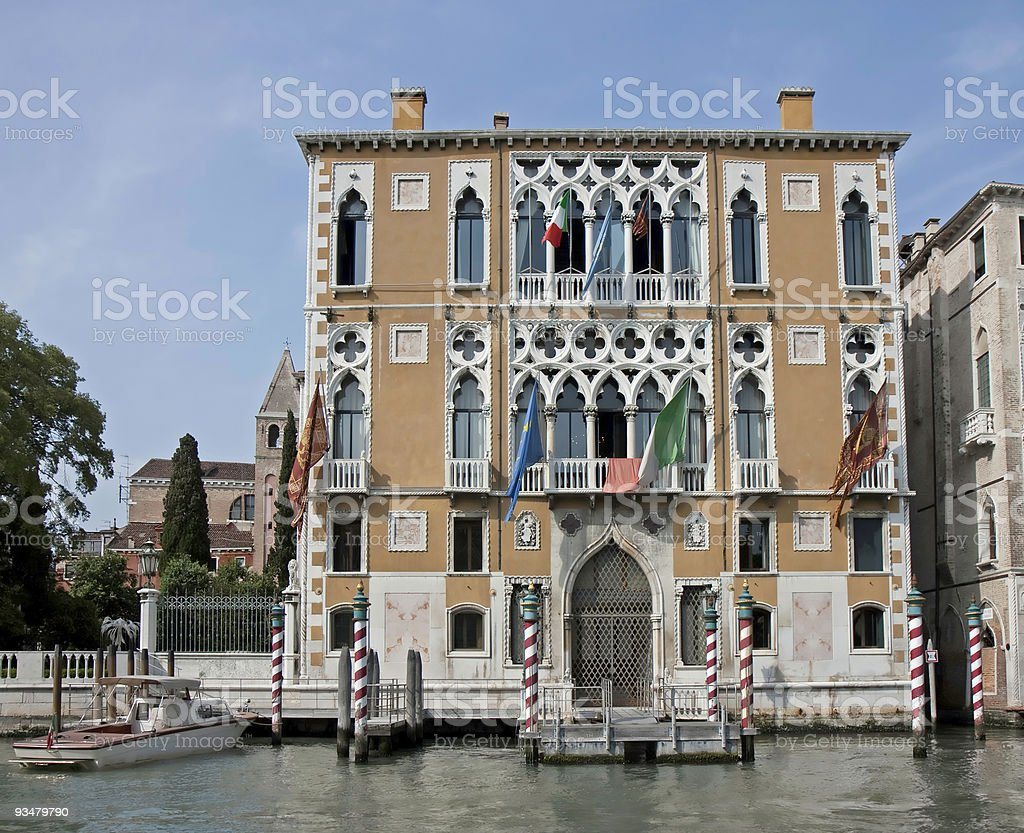 Palazzo Franchetti Cavalli. Grand Canal, Venice stock photo