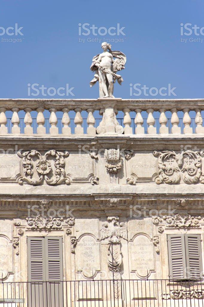 Palazzo Maffei royalty-free stock photo