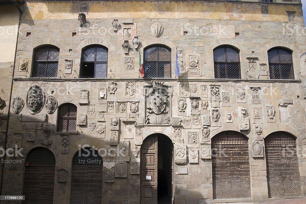 Palazzo Pretorio Arezzo stock photo