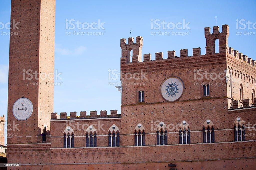 Palazzo Pubblico e Torre del Mangia stock photo