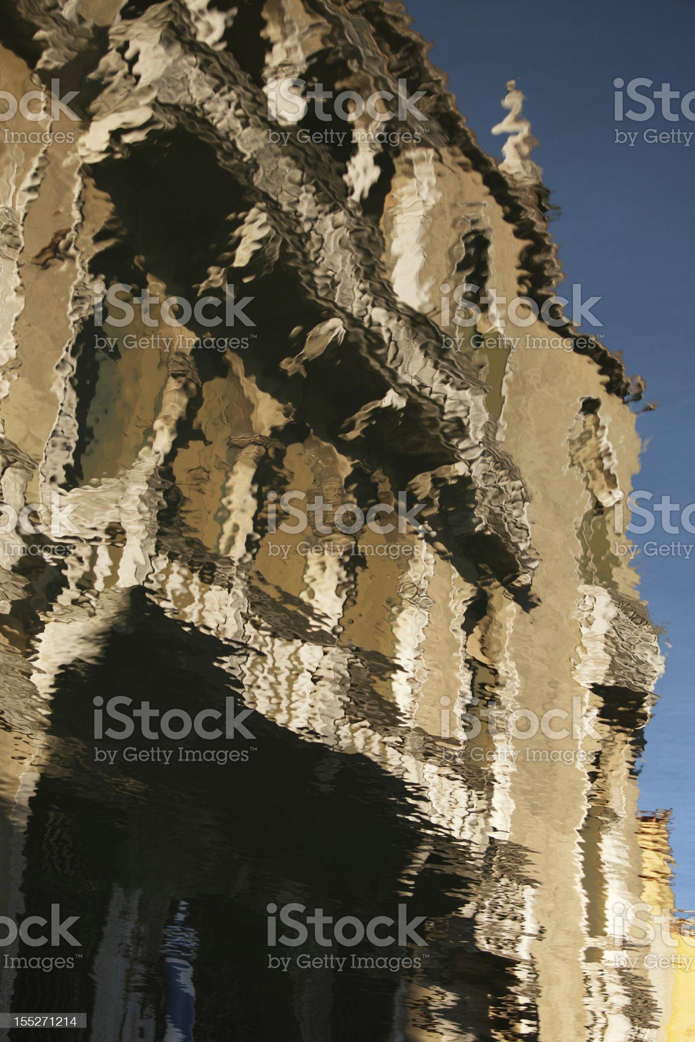 Palazzo reflections royalty-free stock photo