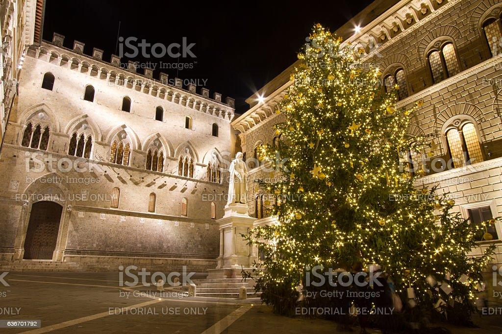 Palazzo Salimbeni in Siena, Italy stock photo