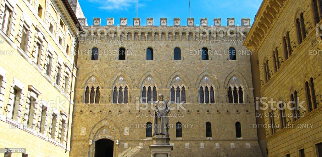 Palazzo Salinbeni - Siena Italy, Monte dei paschi stock photo