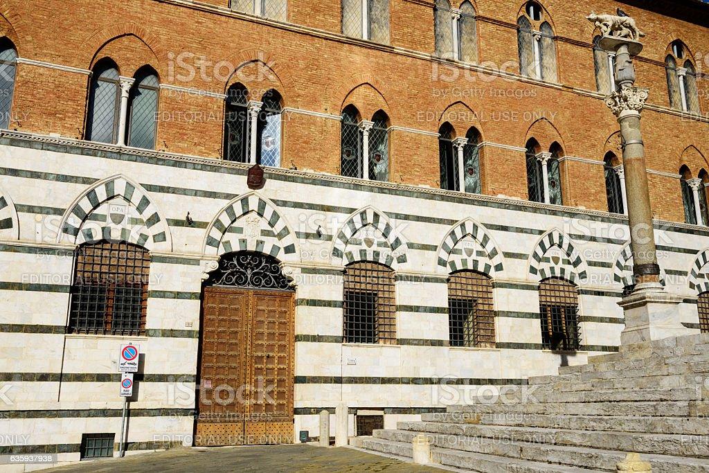 Palazzo Squarcialupi, Siena, Italy stock photo