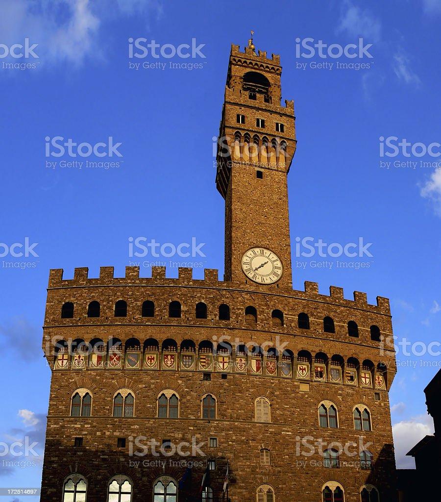 Palazzo Vecchio en Florencia stock photo