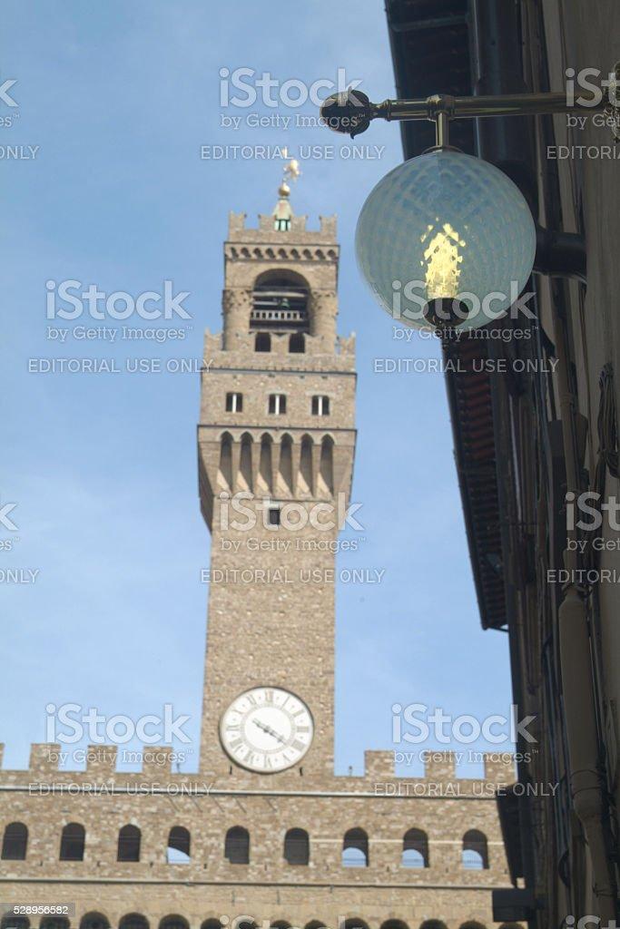 Palazzo Vecchio, Piazza della Signoria. Main building. Florence stock photo