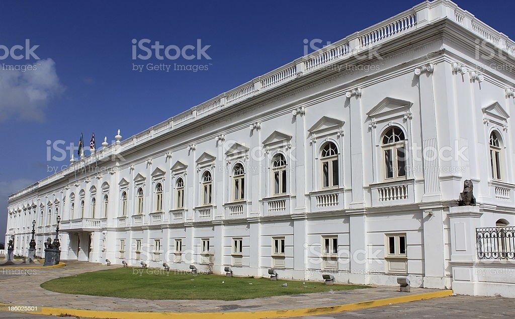 Palácio dos Leões, historic center of São Luís stock photo