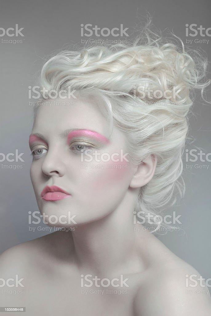 Pale beauty portrait od blonde woman royalty-free stock photo