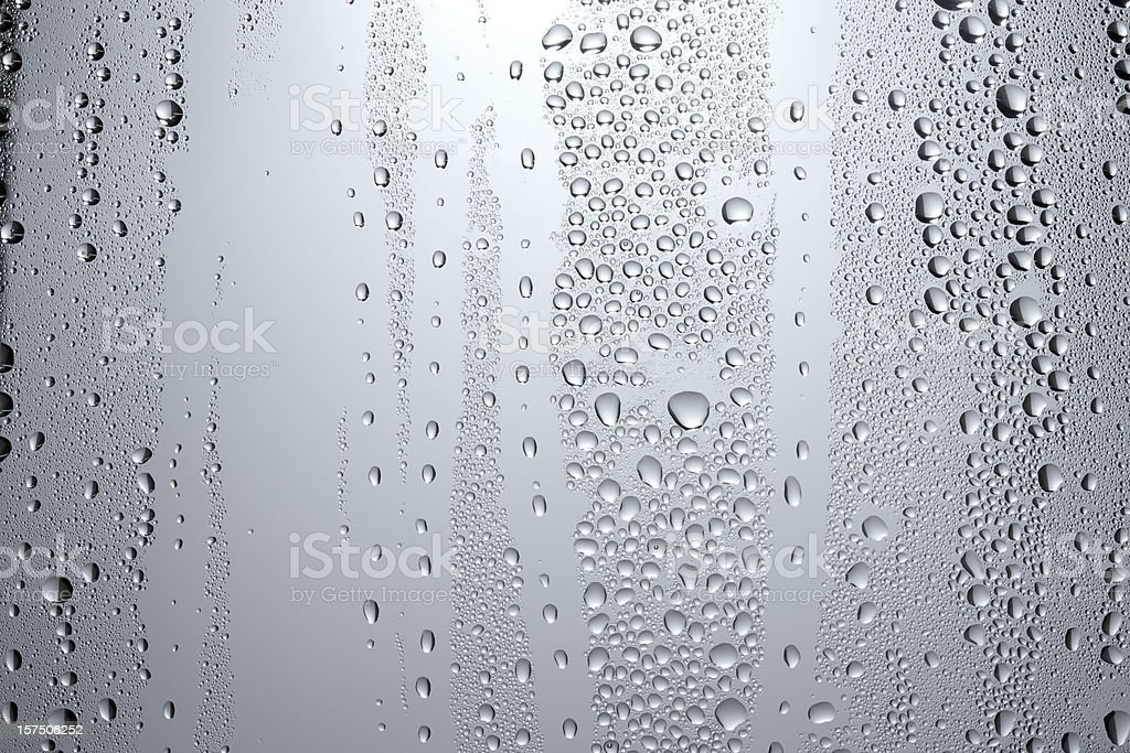 Pale condensation on a window stock photo