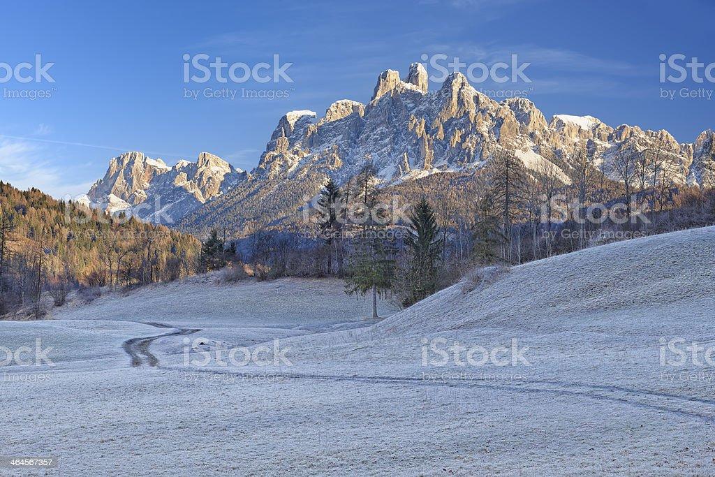 Pale di San Martino from Vanoi stock photo