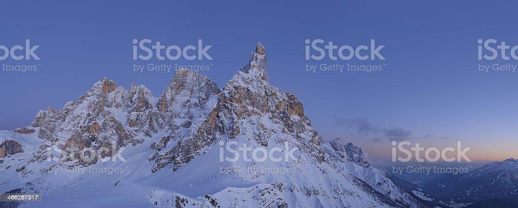 Pale di San Martino in Winter stock photo