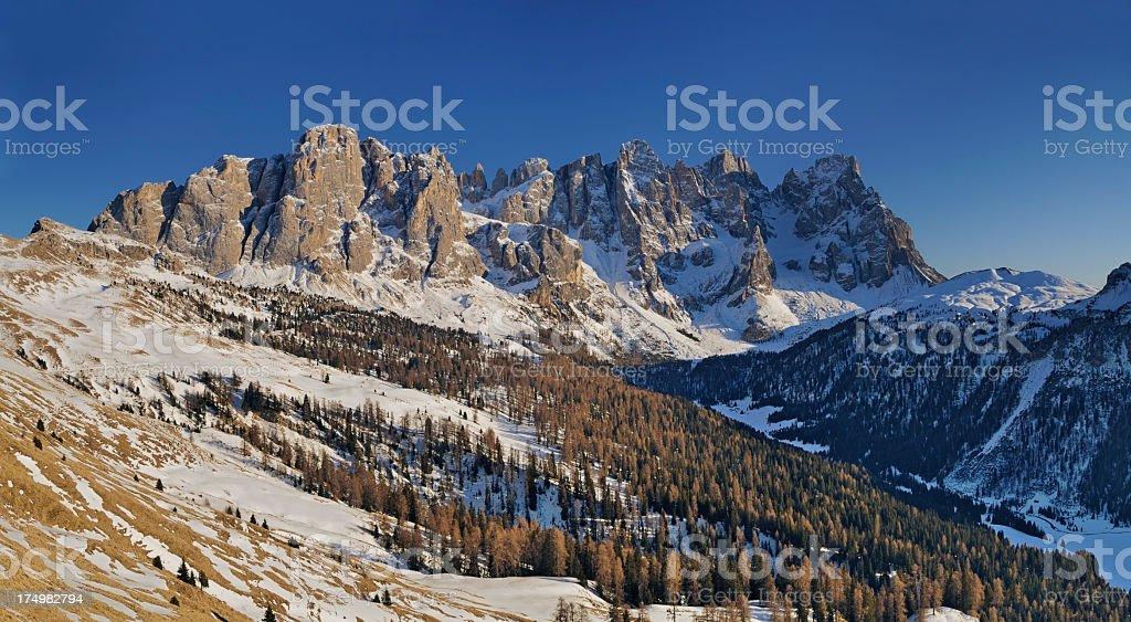 Pale Di San Martino Panorama (Dolomites - Italy) stock photo