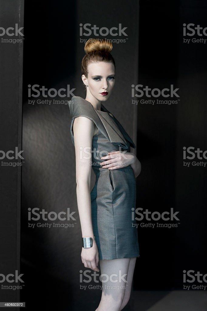 Pale fashion model stock photo
