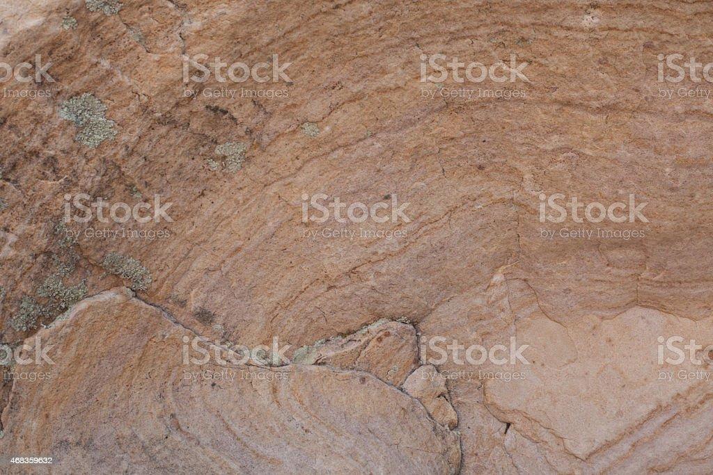 Бледно-оранжевый Пустыня рок стена Стоковые фото Стоковая фотография