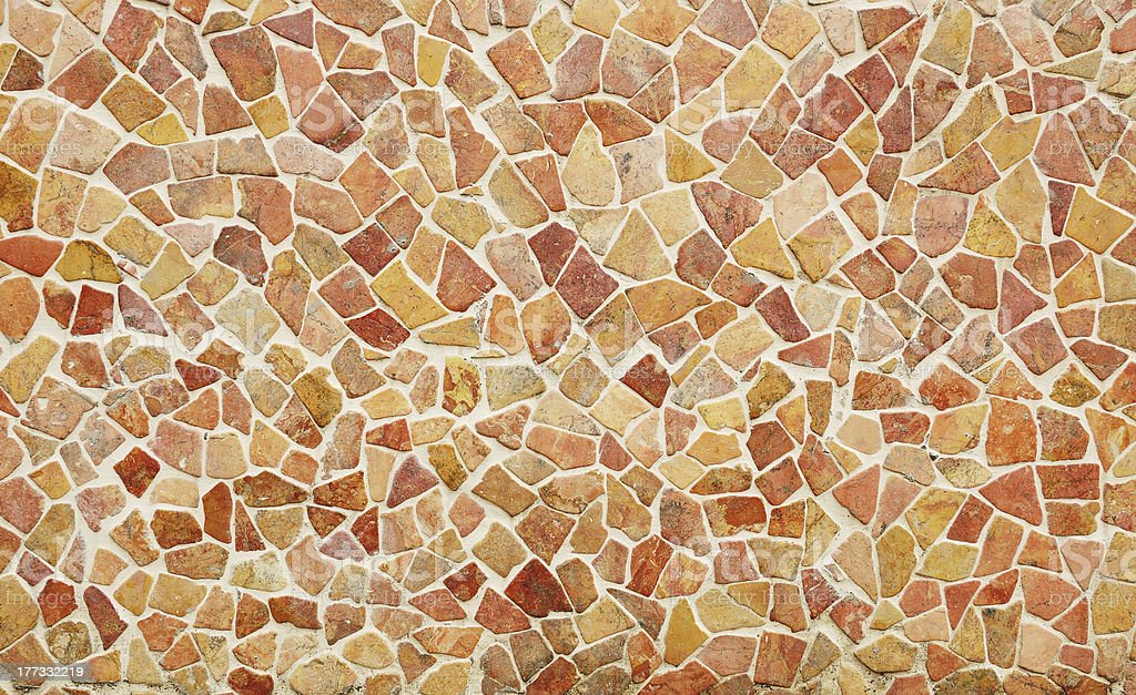 Pale warm colored mosaic tiles royalty-free stock photo