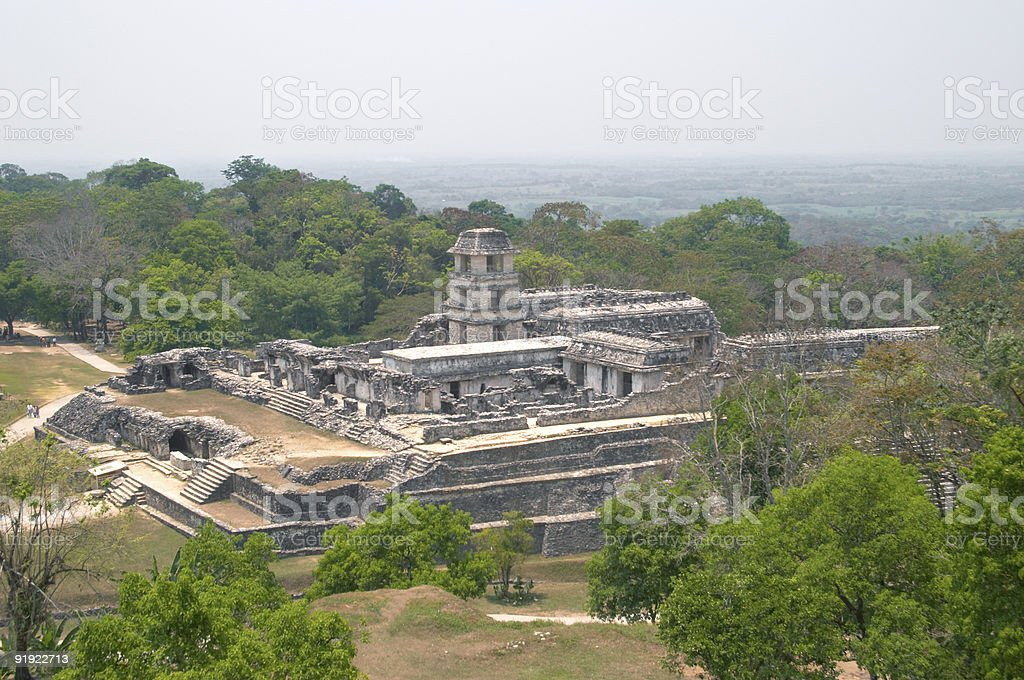 Palenque archaeological site, Mexico royalty-free stock photo