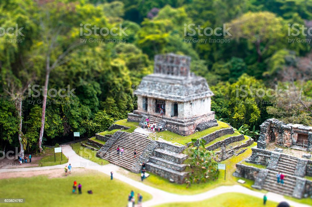 Palenque Chiapas stock photo