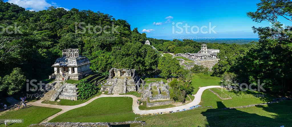 Palenque - Mayan city ruins stock photo