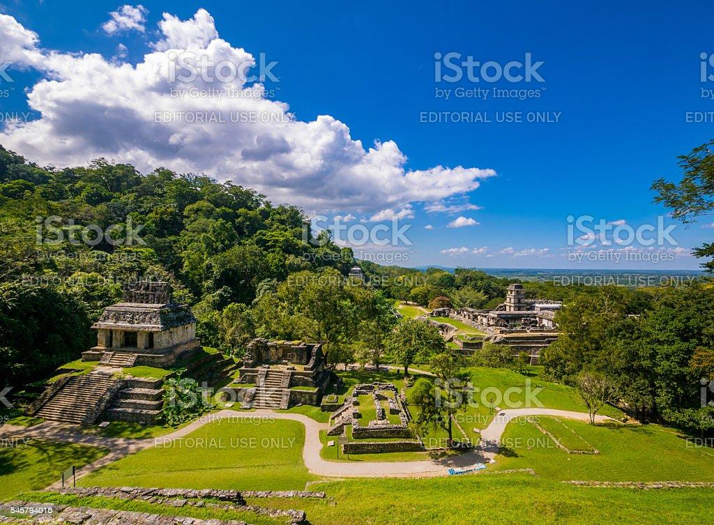 Palenque Ruins stock photo