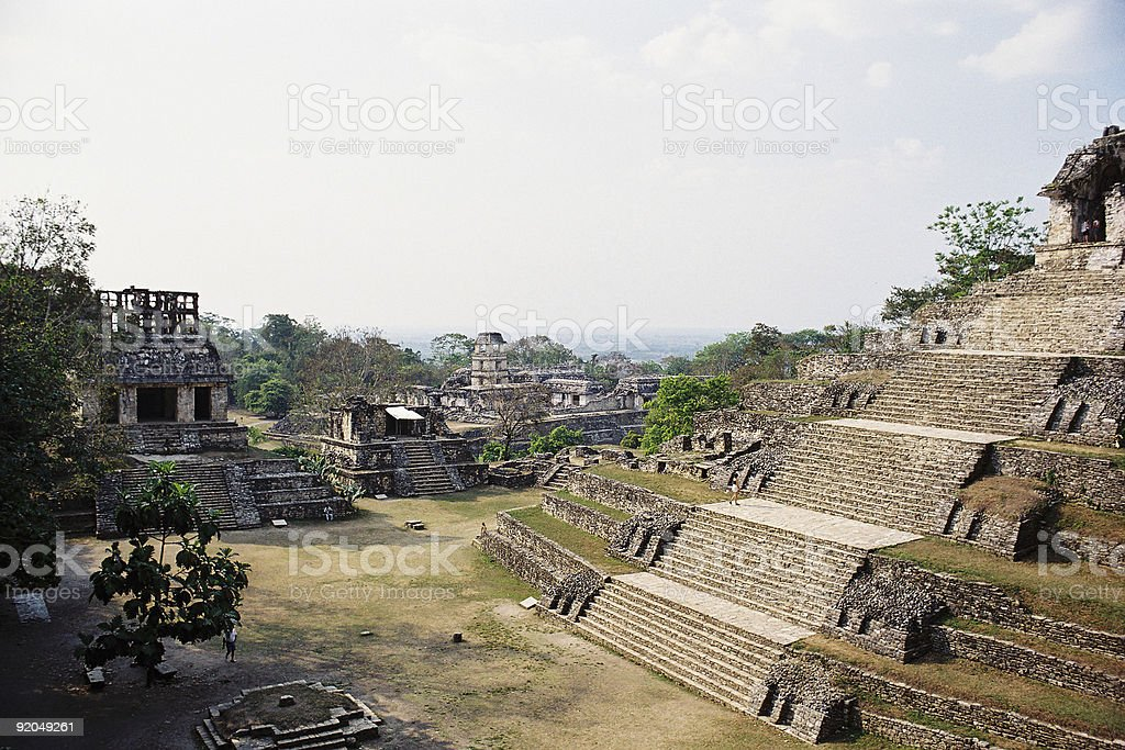 Palenque's Temples royalty-free stock photo