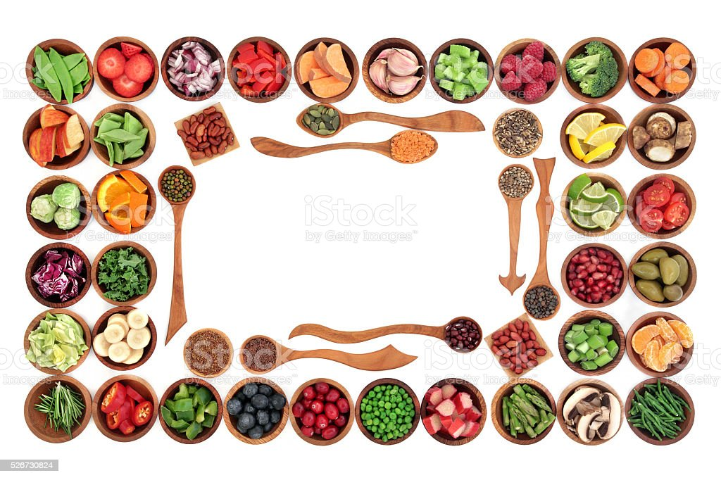 Paleo Diet Food Border stock photo