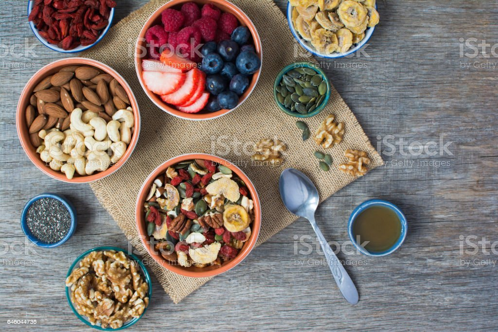 Paleo style breakfast stock photo