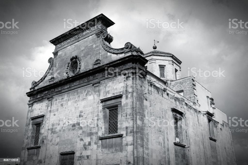 Palermo black white stock photo