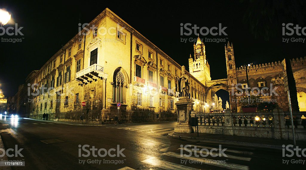 palermo by night royalty-free stock photo