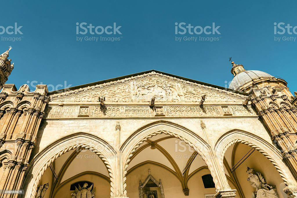 Palermo Cathedral, close-up stock photo