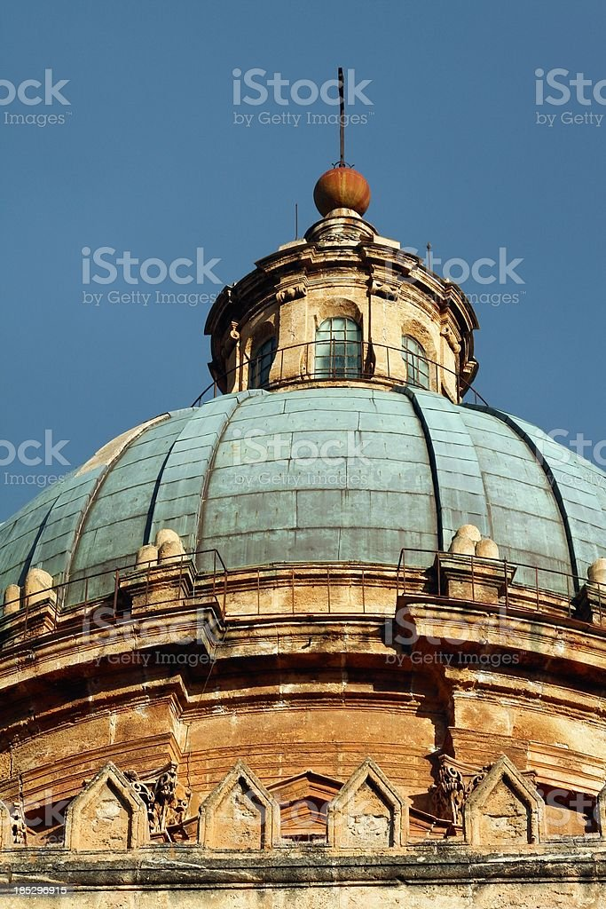 Palermo Cathedral dome stock photo