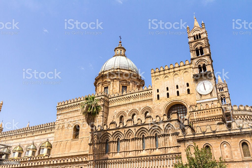 Palermo Cathedral in Sicily, southern Italy stock photo
