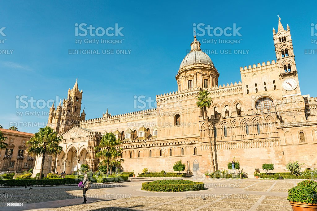 Pelermo Cathedral stock photo