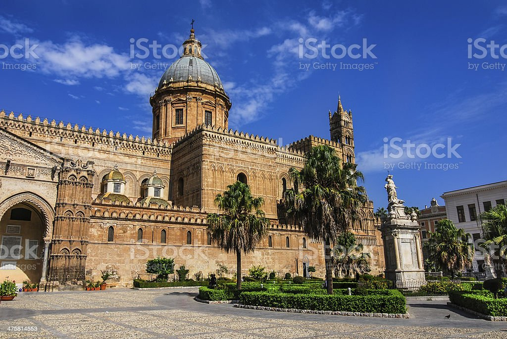 Palermo Cathedral, Sicily, Italy stock photo