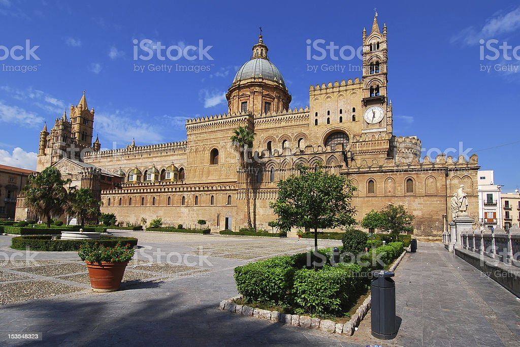 Palermo cathedral, Sicily norman architecture stock photo