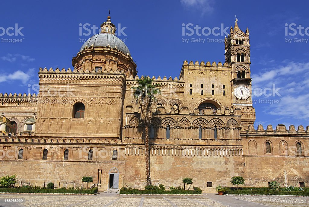 Palermo Cathedral, Sicily royalty-free stock photo