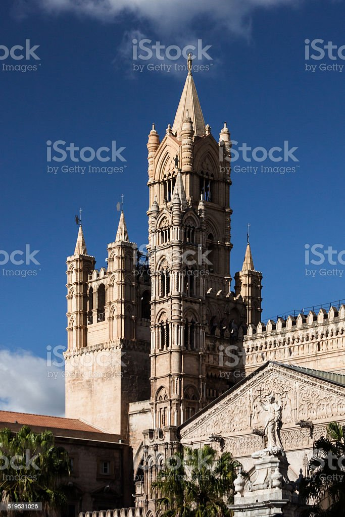 Palermo Cathedral, Sicily stock photo