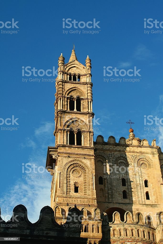 Palermo Cathedral steeple stock photo