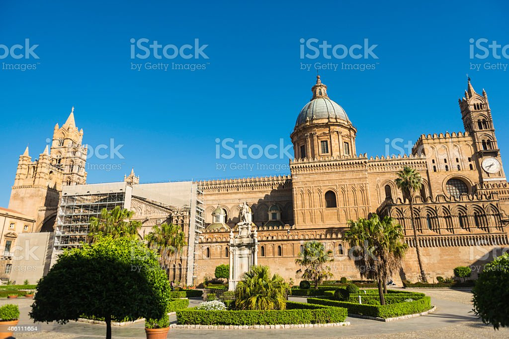 Palermo Chatedral stock photo