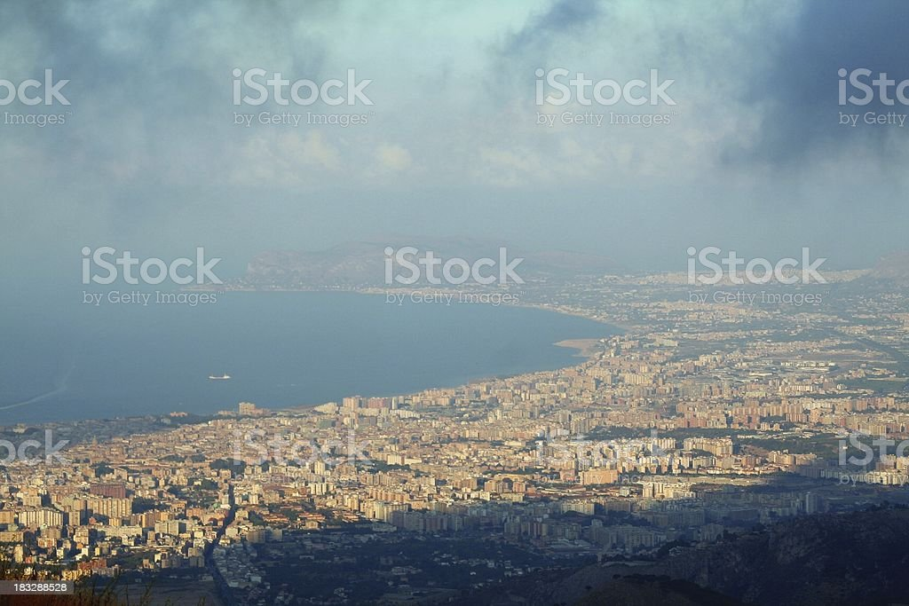 Palermo from above stock photo