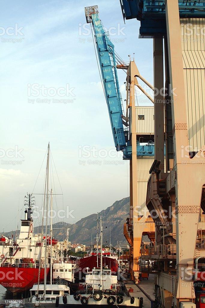 Palermo harbor stock photo